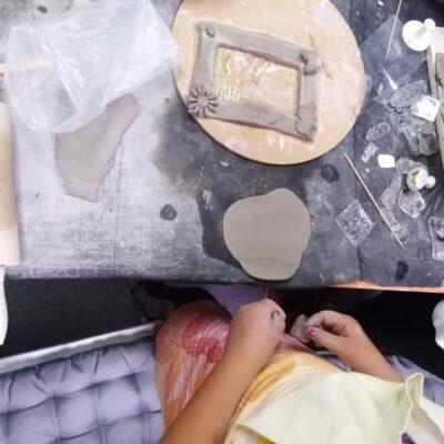 tworzenie ramek z gliny